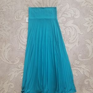 Small Solid Turquoise LuLaRoe Maxi Skirt